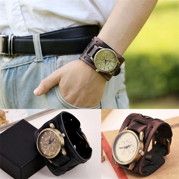 brown, Fashion, Vintage, Bracelet Watch