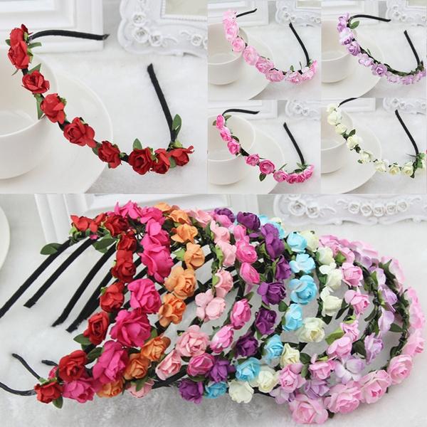 crownrosehairband, Bridesmaid, Style, Flowers