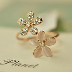 Adjustable, Jewelry, opals, Rhinestone