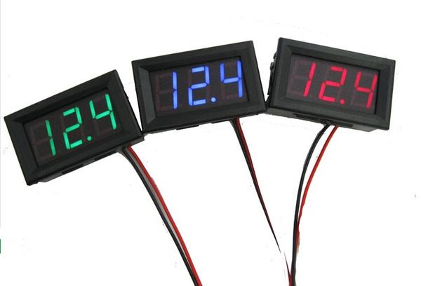electionspoliticalproces, carvoltmeter, Connectors & Adapters, ledvoltmeter