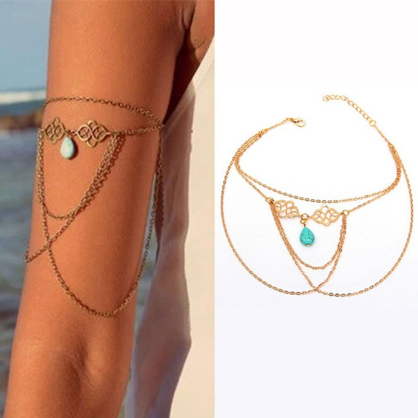Bracelet, Turquoise, Jewelry, Chain