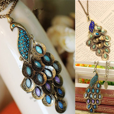 Blues, peacock, Jewelry, Chain