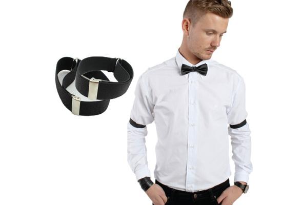 Accessotech 1 Pair Sprung Metal Shirt Sleeve Holders Arm Bands Garters Elasticated Formal