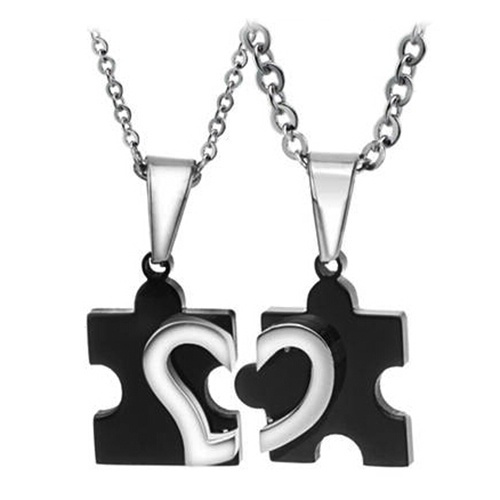 Steel, Heart, Chain Necklace, Love