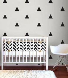 Decor, livingroomandbedroomwalldecal, art, trianglepatterndecal
