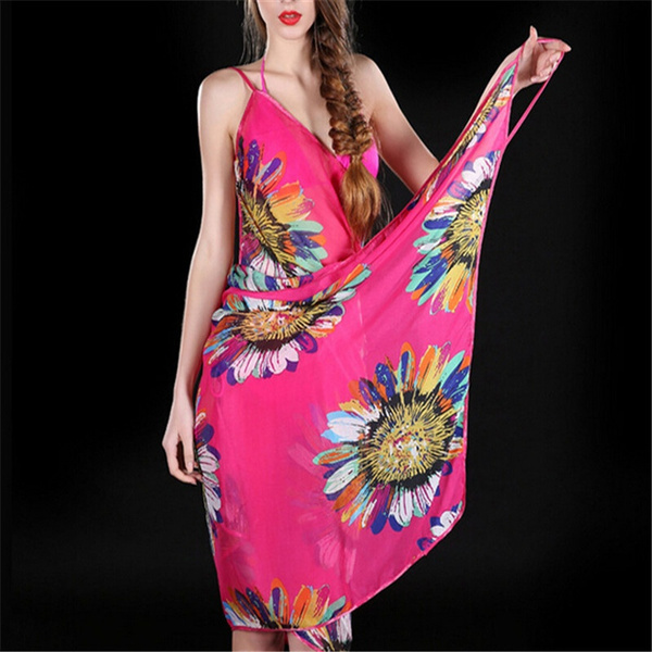chiffonscarve, Summer, Scarves, Flowers
