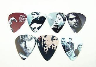 Guitars, nirvana, guitarpicksplectrum, printed