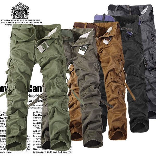 mens long cargo pants