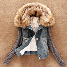 collar slim, fur, Long Sleeve, Dress