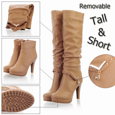 Knee High Boots, Winter, Womens Shoes, motorcycleboot