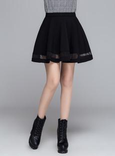Mini, korea, Elastic, fluffy skirts for women