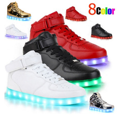 casual shoes, Sneakers, led, leather