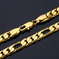figaronecklace, yellow gold, Chain Necklace, mens necklaces