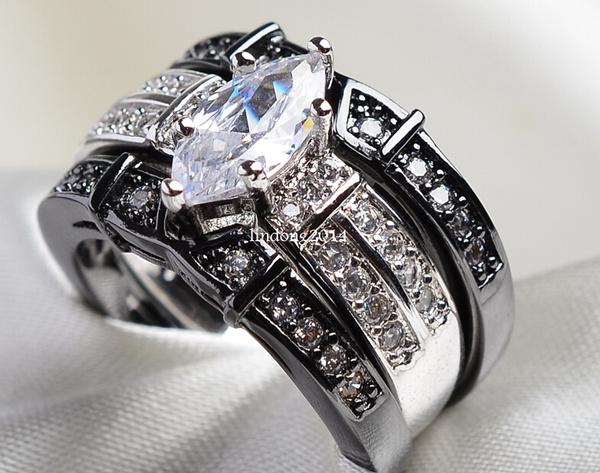 DIAMOND, eye, wedding ring, whitegoldfilled