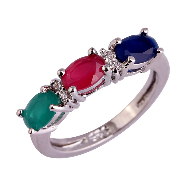 multicolorstonering, Jewelry, 925 silver rings, Silver Ring