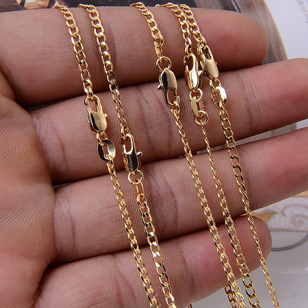 golden, Chain Necklace, Love, Jewelry