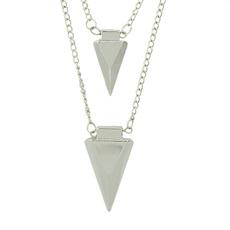 multispikenecklace, multilayerchainnecklace, Fashion, punk necklace