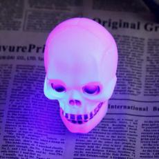 cute, lampdecoration, led, skullnightligh