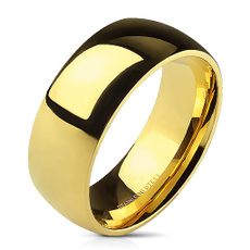 goldplated, wedding ring, gold, Classics