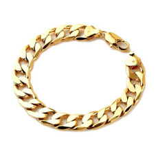 yellow gold, Chain Link Bracelet, gold, stylishmensbracelet