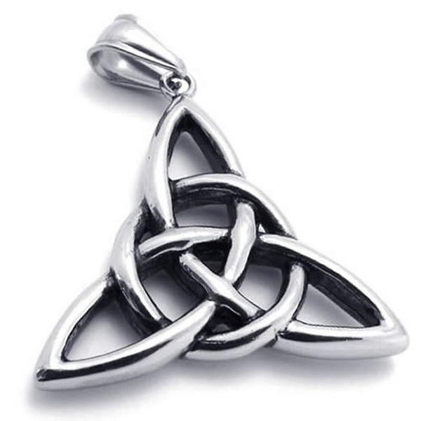 trendy necklace, Steel, Celtic, mens necklaces