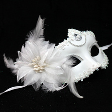 party, Flowers, halffacemask, partymask