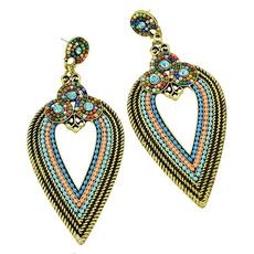 ethnicearring, danglechandelierearring, Colorful, Exquisite Earrings