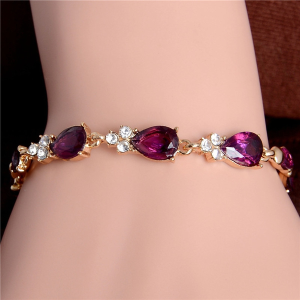 goldplated, czstonesbracelet, Fashion, Jewelry