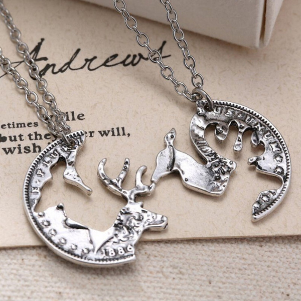 necklacesforcouple, punknecklacesjewelry, couplechain, Jewelry