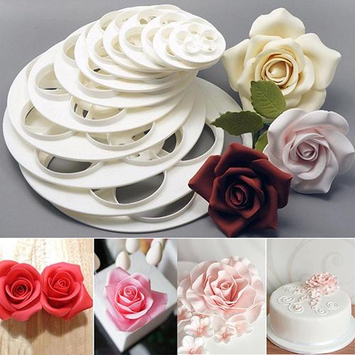 cute, sugarcraftcuttertool, moldedetorta, roseflowermold