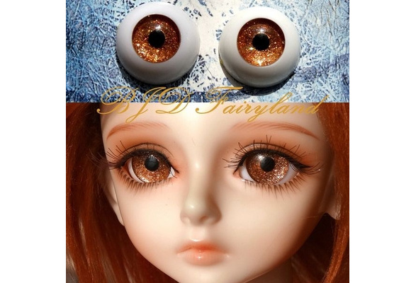 22mm Hand Made BJD Doll Eyes Pearlized Green Acrylic Half Ball
