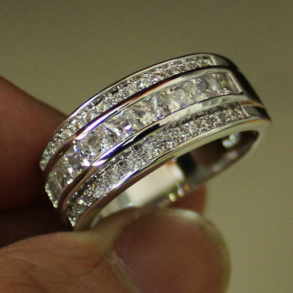 White Gold, men_rings, 925 sterling silver, gold