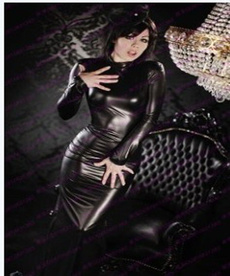 bodycondressvestido, latex, faux leather dress, Cosplay