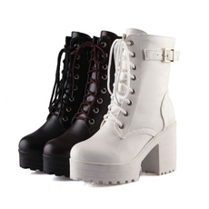 ankle boots, platformboot, Woman, velvet
