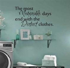 decoration, Decor, Laundry, laundryroomdecal