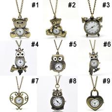 Antique, Owl, quartz, Jewelry