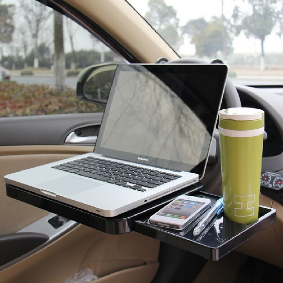 Portable Foldable Car Laptop Stand, Car Seat Laptop Tray