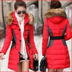 hooded, fur, Long Sleeve, Coat