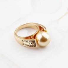 goldplated, ringsformen, DIAMOND, Jewelry