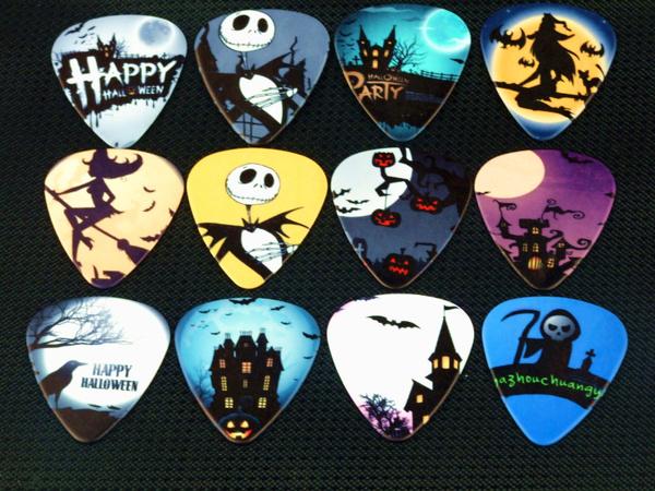 Skeleton, skull, night, Guitars