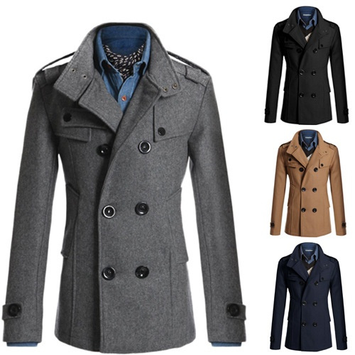 Trench Coat Overcoat Outerwear, Fashion Brand Pea Coat