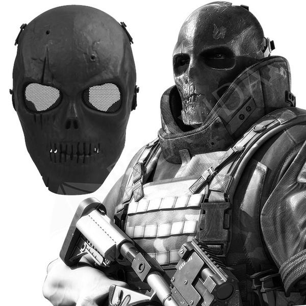 Airsoft Paintball, Helmet, skullskeleton, Skeleton
