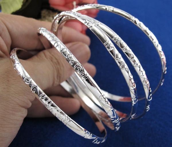Sterling, 925 sterling silver, Bangle, Pattern