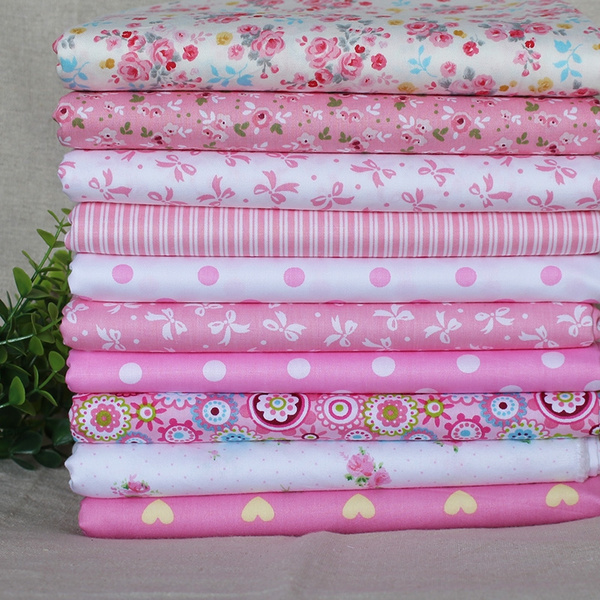 pink, Fabric, doll, Patchwork