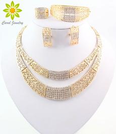 Moda masculina, gold, crystaljewelryset, Rhinestone