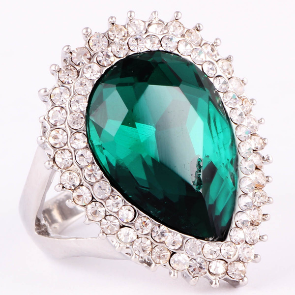 Woman, emeraldring, 18kgoldfilled, Emerald
