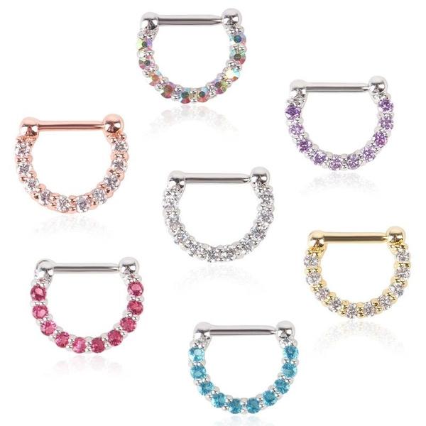 Steel, nosedecoration, Jewelry, nosehoop