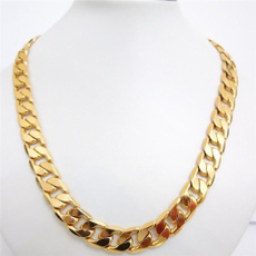 yellow gold, Chain Necklace, Men, gold