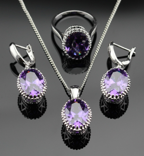 Cubic Zirconia, purpleamethyst, Jewelry, gemstone jewelry