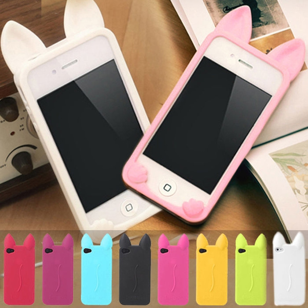 3D Cute Cat Ear Cartoon Soft Silicone Case Cover for iphone 5 5s SE 6 6S 6 plus | Wish